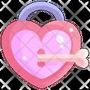 Heart Locker Love Lock Key Icon