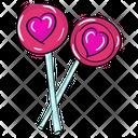 Heart Lollipop Candy Stick Love Lollipop Icon