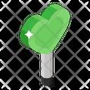 Heart Lollipop Candy Stick Rattle Pop Icon