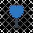 Heart Lollipop Candy Icon