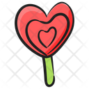 Heart Lolly Sweet Candy Lollipop Icon