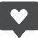 Heart Message Icon