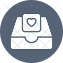 Heart Message Storage Icon