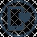 Smartphone Charity Heart Icon