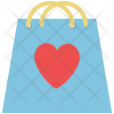 Heart on bag Icon