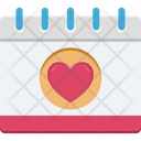 Heart On Calendar Icon