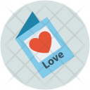 Heart on card Icon