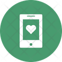 Heart On Device Icon