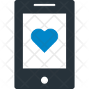 Heart On Device Mobile Loving Message Icon