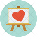 Heart On Easel Icon