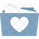 Heart On Folder Internet Romance Love Concept Icon