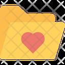 Heart On Folder Data Folder Heart Icon
