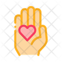 Heart Palm Equality Icon