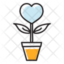 Love Growth Heart Plant Love Plant Icon