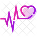 Valentine Day Heart Pulse Icon