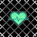Heart Rate Fitness Heart Beats Icon