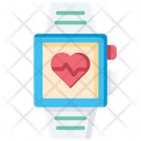 Heart Rate Smartwatch Fitness Tracker Icon