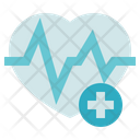 Medical Service Heart Rate Pulse Icon