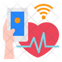 Heart Rate Smartphone Mobile Icon