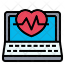 Heart Rate Laptop Technology Icon