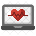 Heart Rate Electronics Monitoring Icon