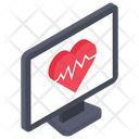 Heart Rate Cardiogram Icon