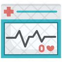 Heart Rate Monitor Ecg Cardiology Icon