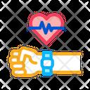 Watch Measuring Heartbeat Icon