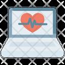 Healthcare Heart Laptop Icon