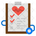 Heart Report Medical Report Ecg Report Icon