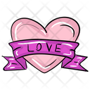 Heart Ribbon Love Ribbon Love Bow Icon