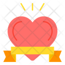 Heart Ribbon Love And Romance Icon