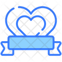 Heart Ribbon Heart Insignia Love Ribbon Icon