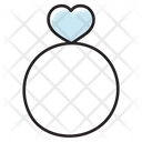 Heart Ring Engagement Ring Jewellery Icon