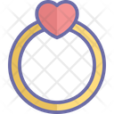 Heart ring jewelry Icon