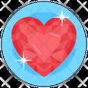Gemstone Heart Ruby Emerald Icon