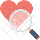 Heart Search Magnifier Icon