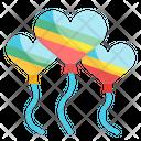 Heart Shape Ballons Icon