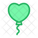 Heart Shape Balloon Icon