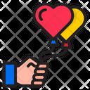Heart Shape Balloon Balloon Air Icon