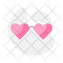 Heart Shape Glasses Icon
