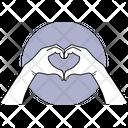 Heart Shape Hand Hand Fingers Icon