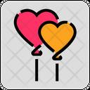 Valentine Day Heart Balloon Icon