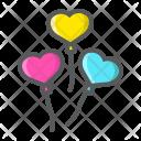 Heart Shaped Balloons Icon