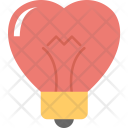 Heart Shaped Bulb Icon