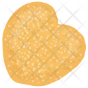 Heart-shaped Cookie Icon