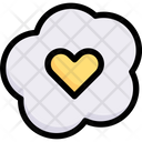 Heart Shaped Fried Eggs Icon