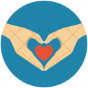 Heart shaped hands Icon
