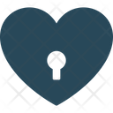 Heart Shaped Love Secret Padlock Icon