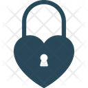 Heart Shaped Lock Icon